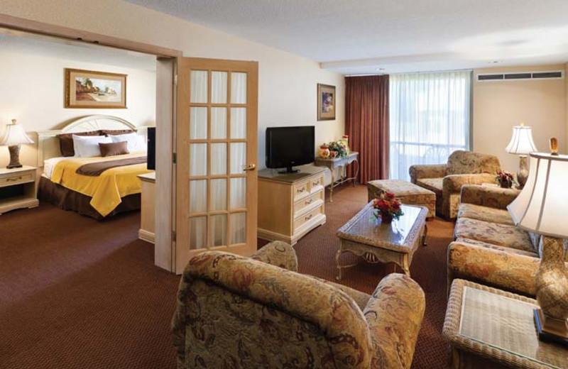 Guest suite at Arrowwood Resort & Conference Center.