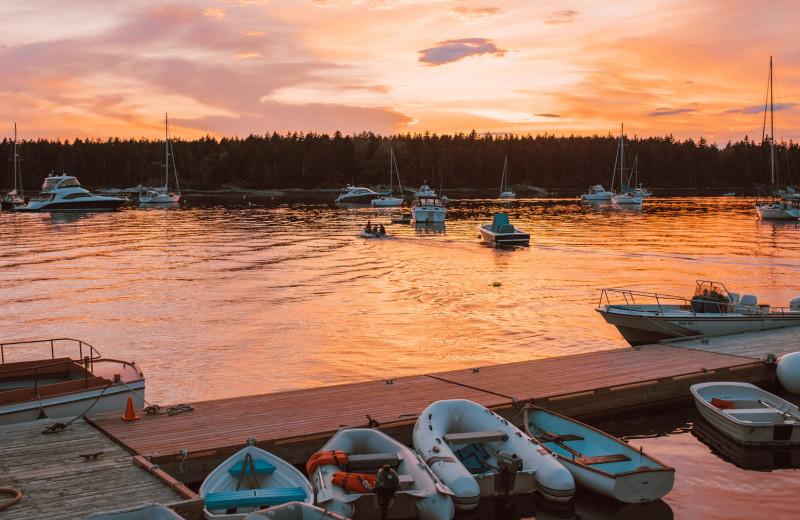 Dock at Sebasco Harbor Resort.