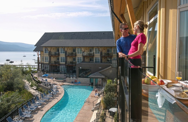 Couple at Summerland Waterfront Resort.