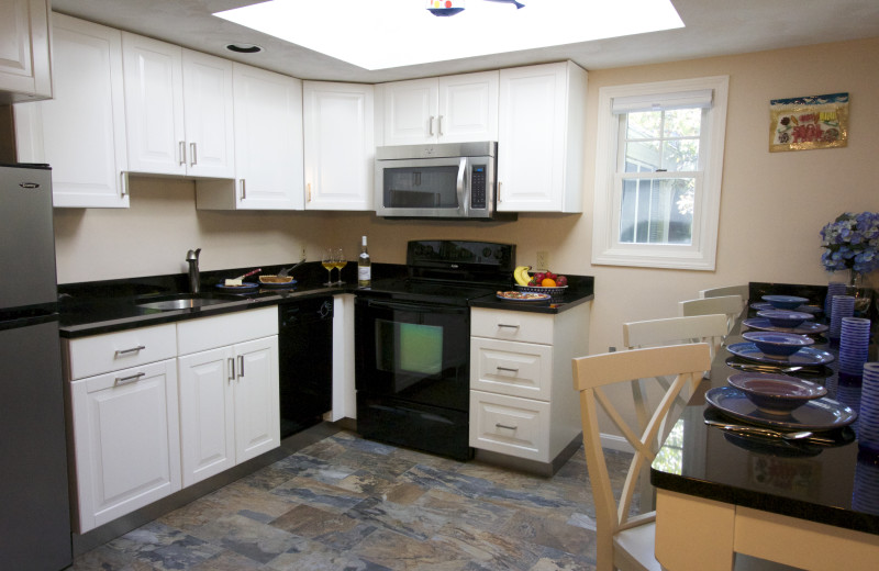 Guest kitchen at Pleasant Bay Village.