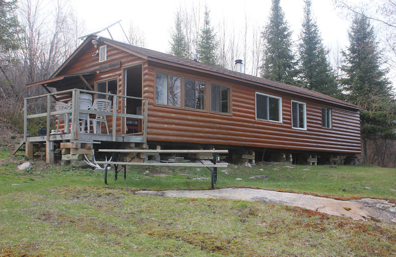 Cabin exterior at Wilderness Air.