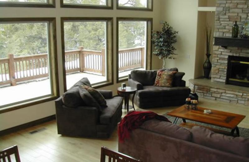 Vacation home interior at Zion Ponderosa Ranch.
