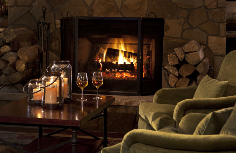 Relax by the fire at The Charter at Beaver Creek.