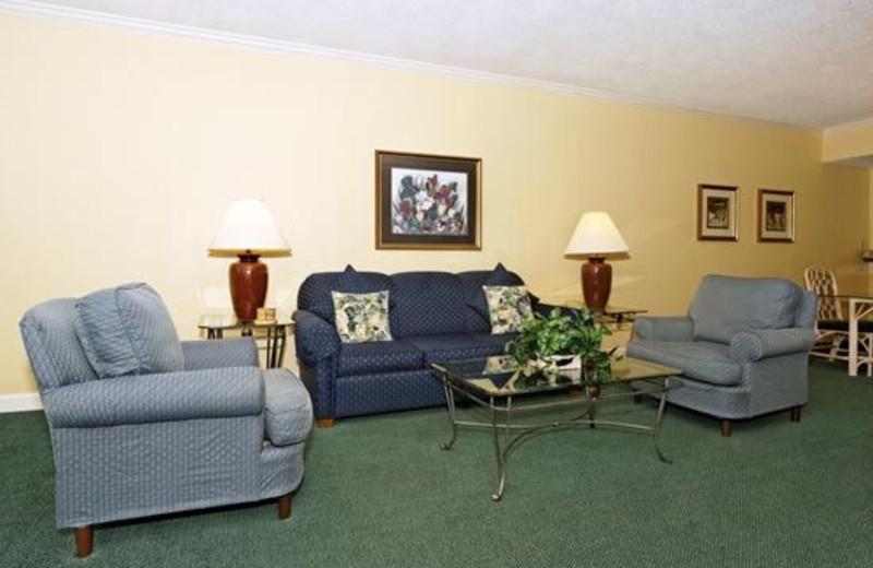 Living Room View at Waterside Resort