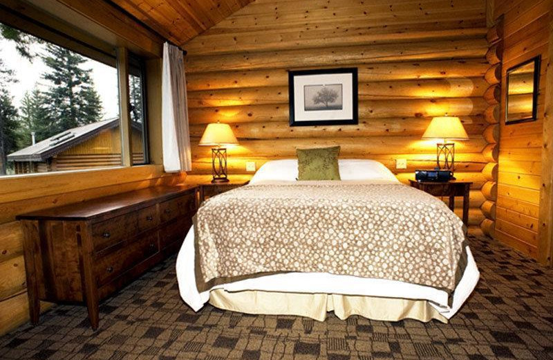 Guest room at Castle Mountain Village.