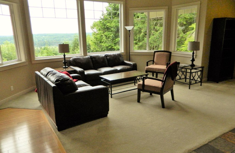 Living room at Blue Mountain Retreat.