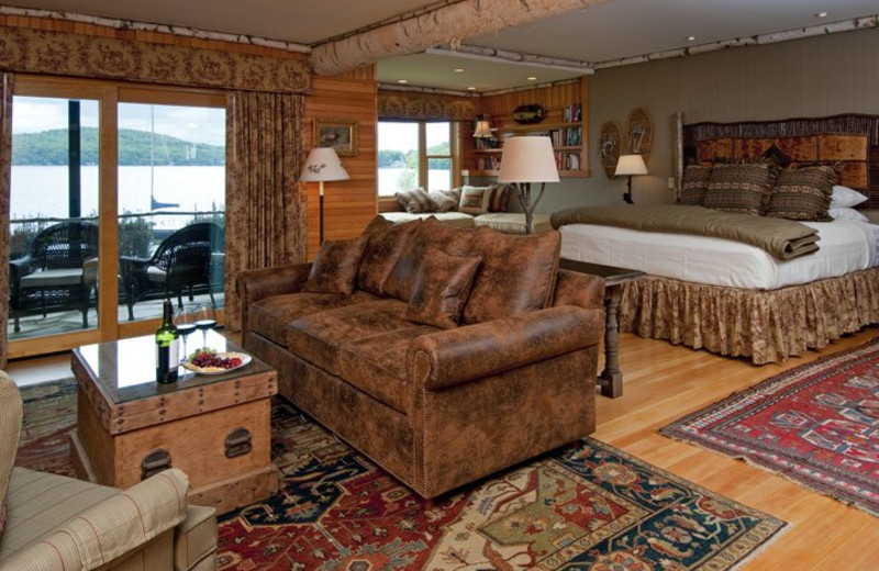 Guest room at Mill Falls at the Lake.