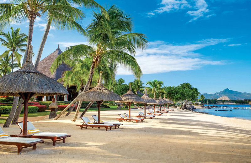 The beach at The Oberoi Mauritius.