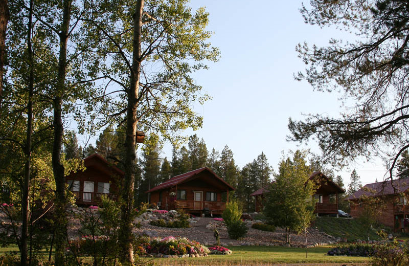 Cabins at Glaciers' Mountain Resort.