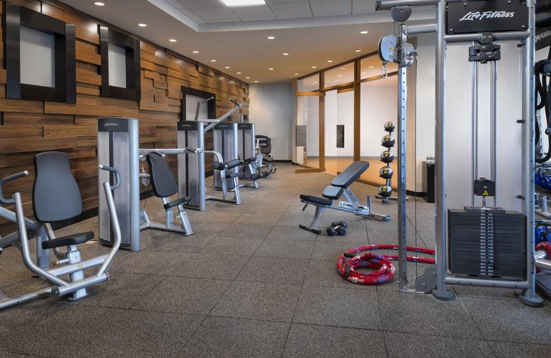 Fitness room at Del Lago Resort & Casino.