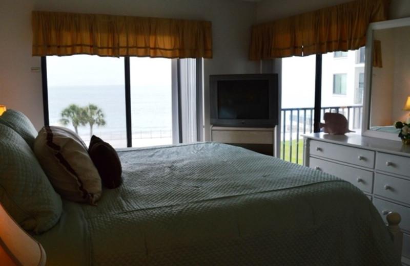 Guest bedroom at Caprice Resort.