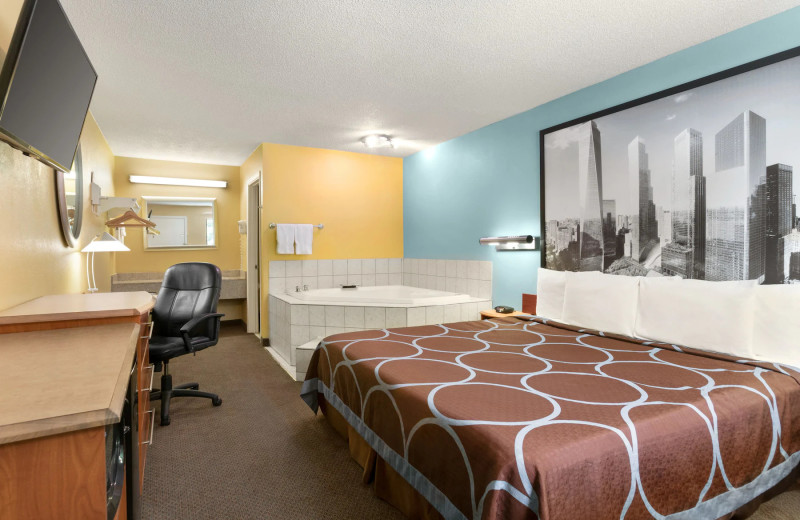 Guest room at Super 8 by Wyndham Findlay.
