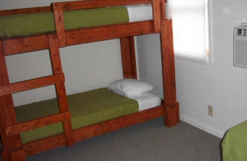 Bunk beds at Pinecrest Camp Lodge.