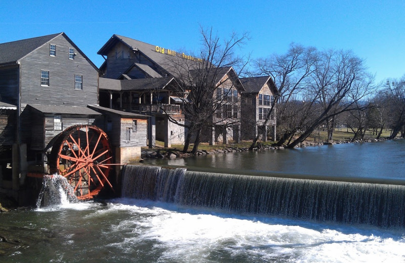 Old Mill Restaurant near Cabin Fever Vacations.