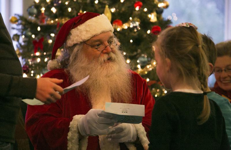 Santa at Waterville Valley.