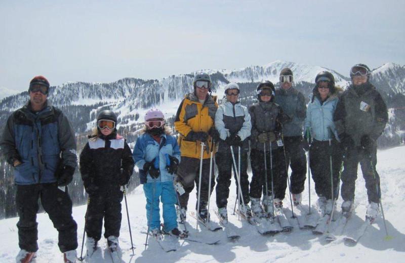 Skiing at Chateau Aprés Lodge.
