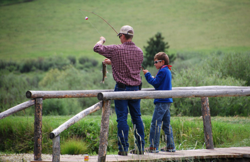 Fishing at Paradise Guest Ranch.