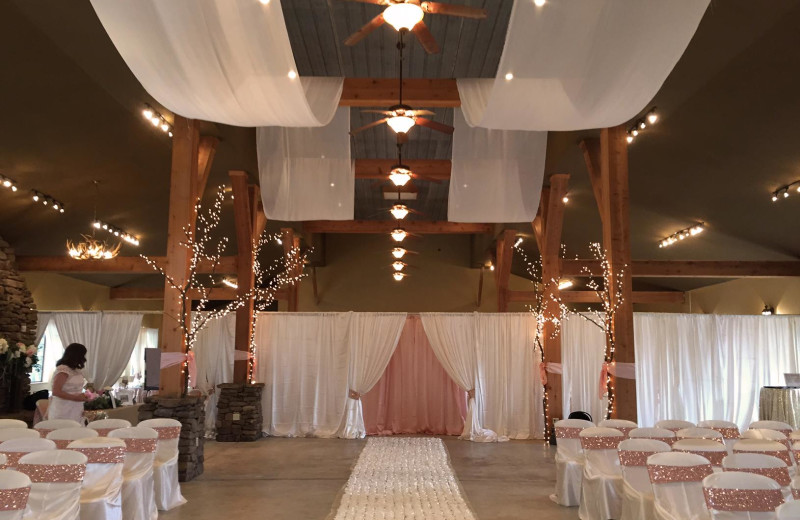 Wedding reception at Mulberry Mountain Lodging & Events.