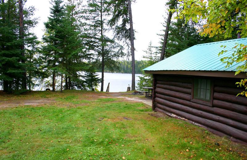 Cabin exterior at Cliff Lake Resorts.