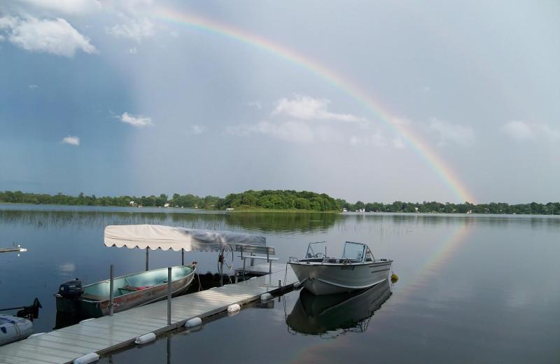 Dock at Brophy Lake Resort.
