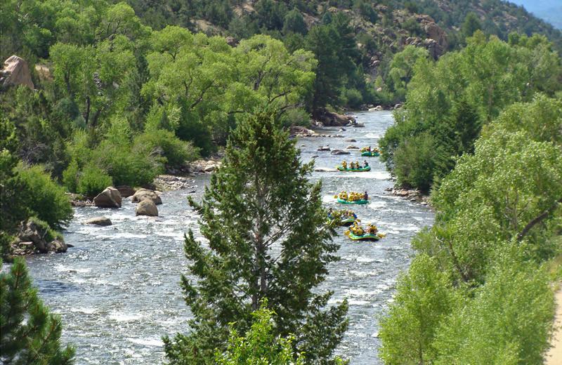 Water activities at Tumbling River Ranch.
