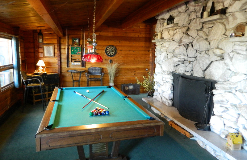 Billiards at Eldora Lodge.