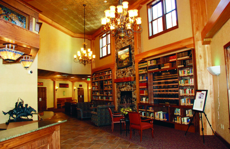 Library at Rough Riders Hotel.