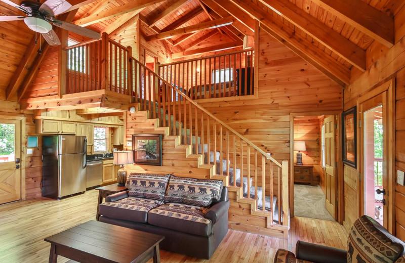 Rental exterior at Stony Brook Cabins LLC.