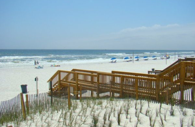 Boardwalk to the beach at Newman-Dailey Resort Properties, Inc.