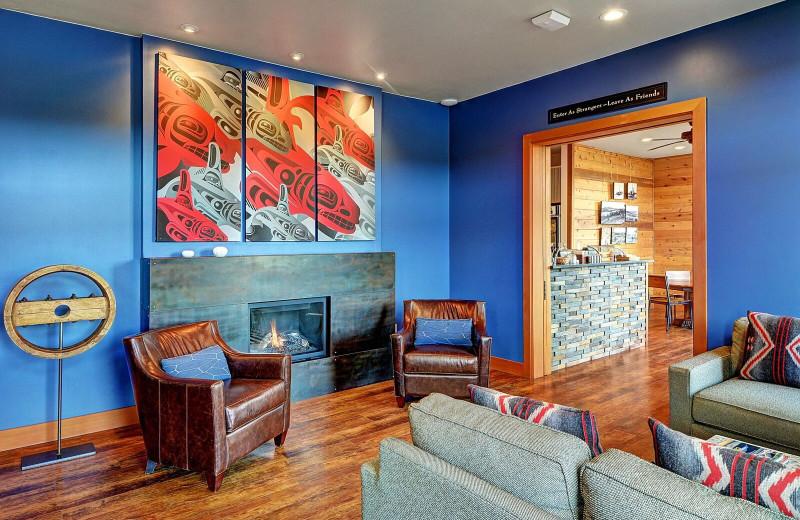 Lobby at Snug Harbor Marina Resort.