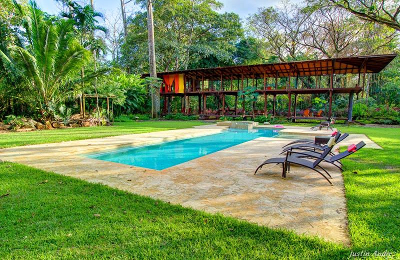 Outdoor pool at Iguana Lodge.
