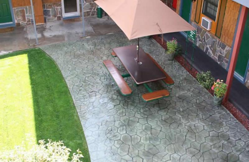 Patio at Cedar Wood Inn.