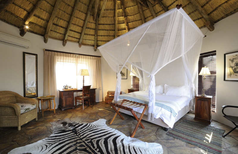 Guest room at Etosha Aoba Lodge.