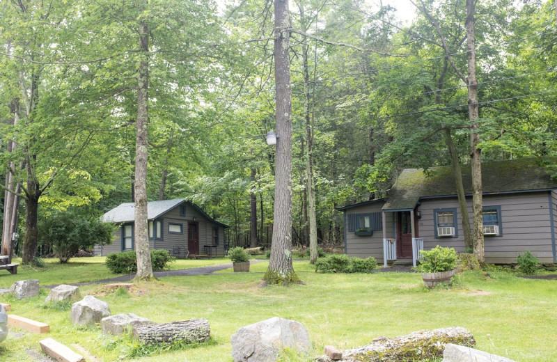 Cabins at Woodstock Lodge.