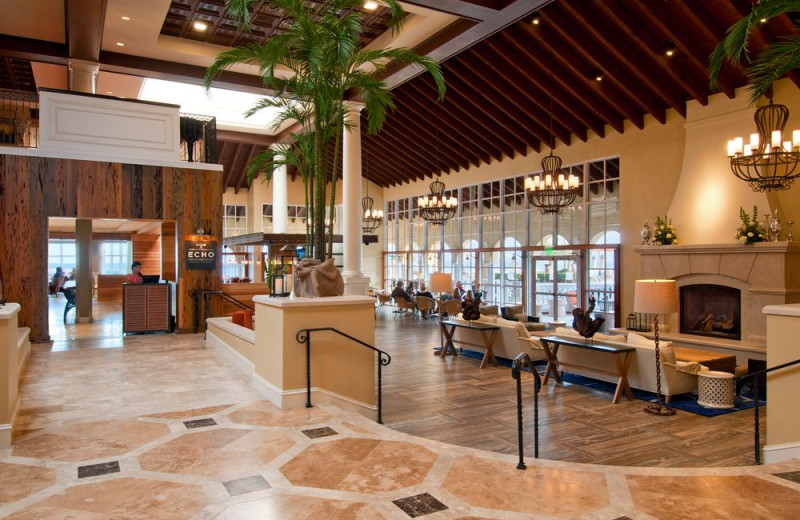 Lobby at The King and Prince Beach & Golf Resort.