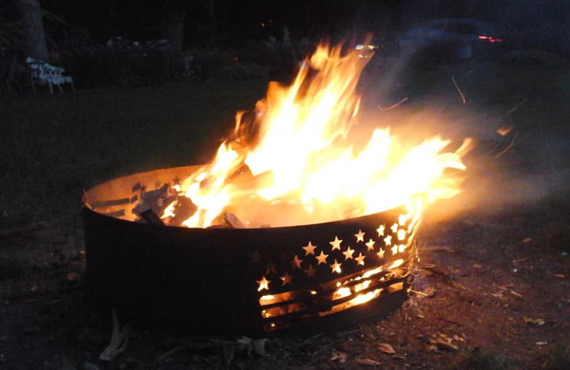 Bonfire at The Homestead at Ottertail RV Park and Resort.