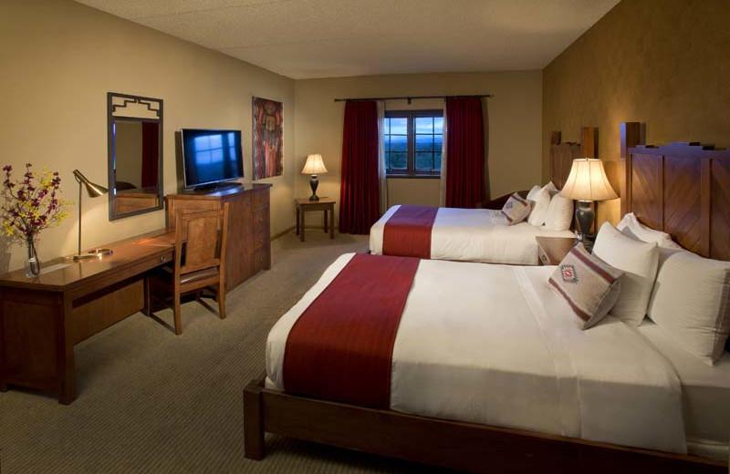 Two bed guest room at Eldorado Hotel.