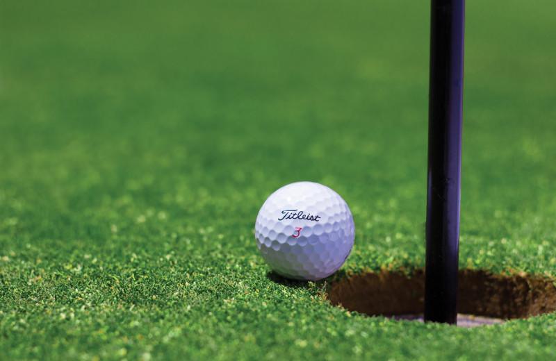 Golf course near Deluxe Camp.
