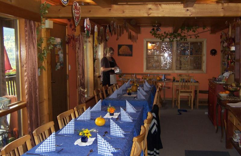Dining at Alexa Chalets -Timber Inn & Restaurant.