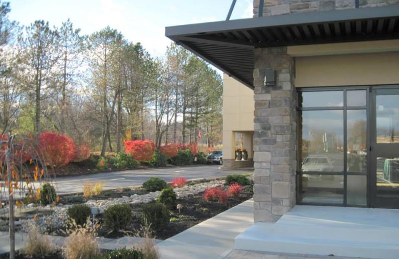 Exterior view of Garden Plaza Hotel.
