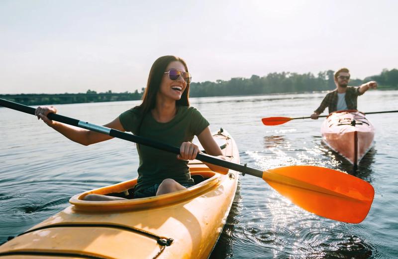 Kayaking at Sand Lake Resort.