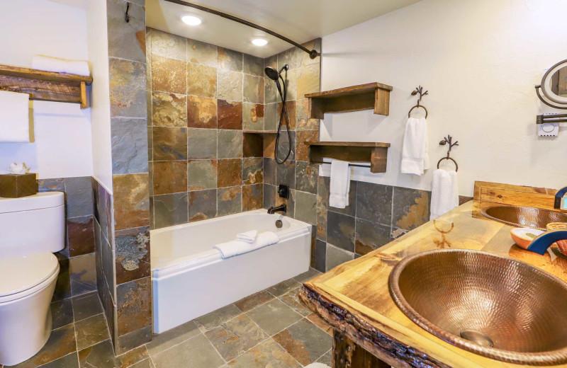 Guest bathroom at C Lazy U Ranch.