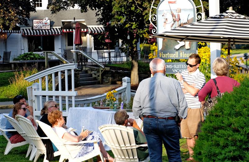 Family at Footbridge Beach Motel.
