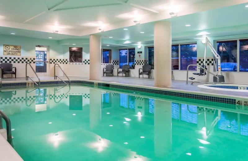 Indoor pool at Hampton Inn Clifton Park.