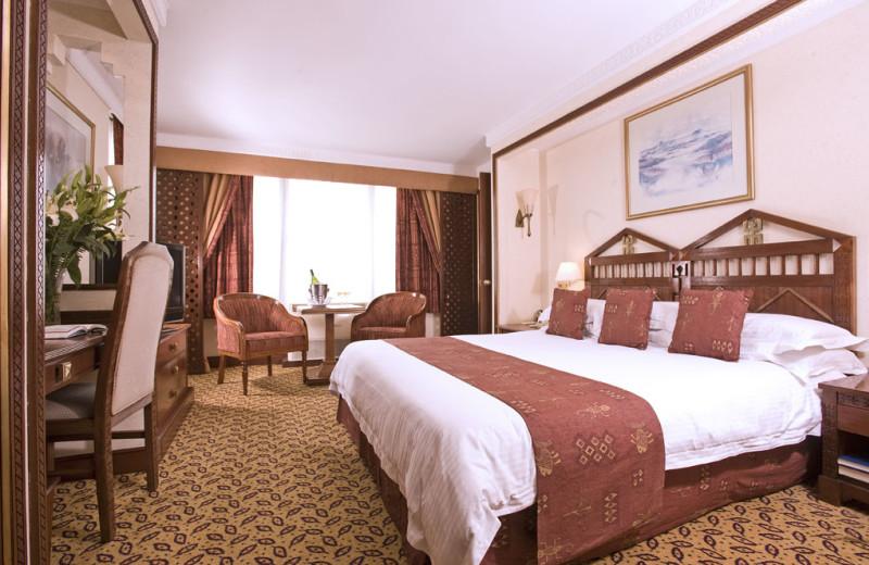 Guest room at Nairobi Serena Hotel.