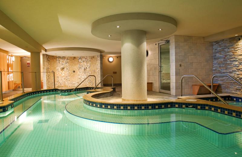 Indoor pool at Banff Caribou Lodge.
