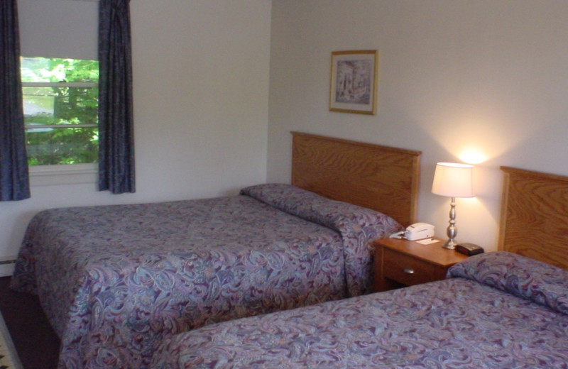 Guest room at Highland Lake Resort.