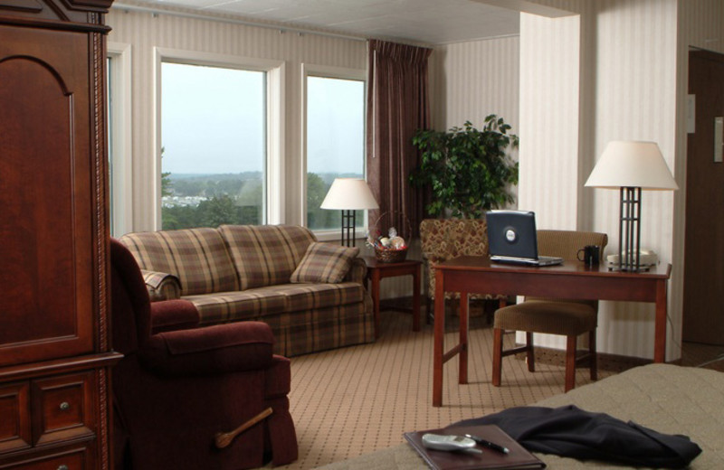 Guest room at Evergreen Resort.