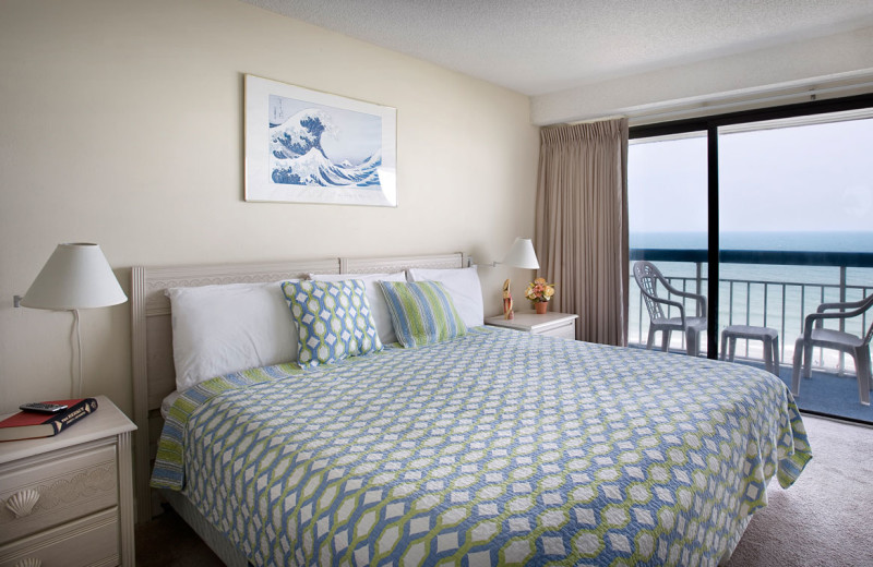 Guest room at Forest Dunes Ocean Front.