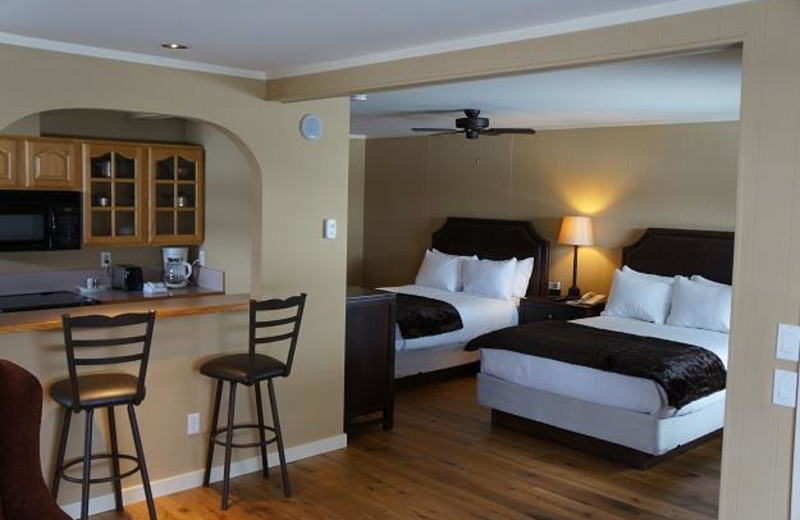 Guest room at The Nordic Inn.